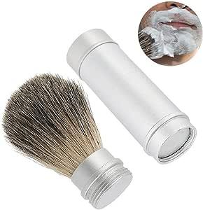 Brocha de afeitar, barba herramienta barba portátil cepillo para ...
