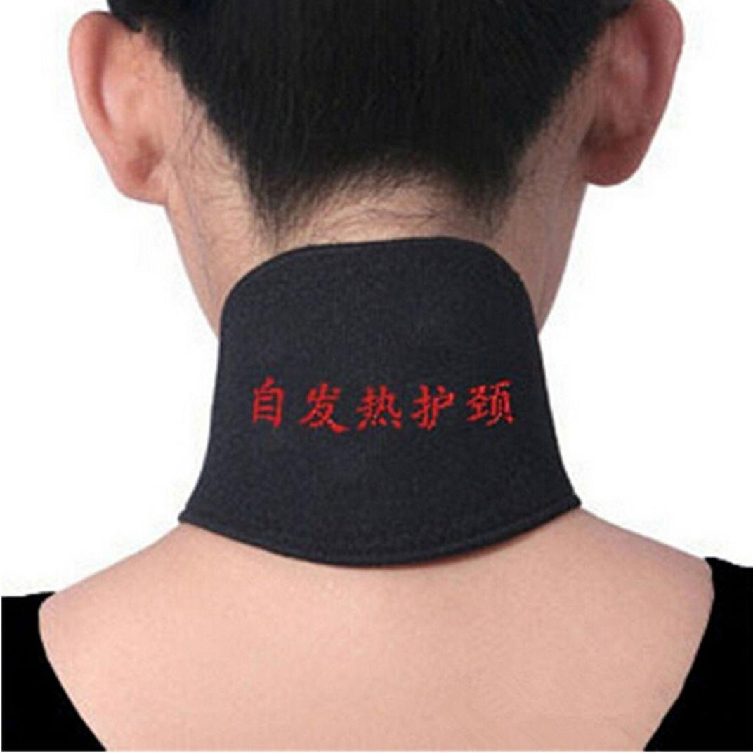 ❤JPJ(TM)❤️_Hot sale 1PC Unisex Self Heating Magnetic Therapy Headache Belt Neck Massager Belt (Black)