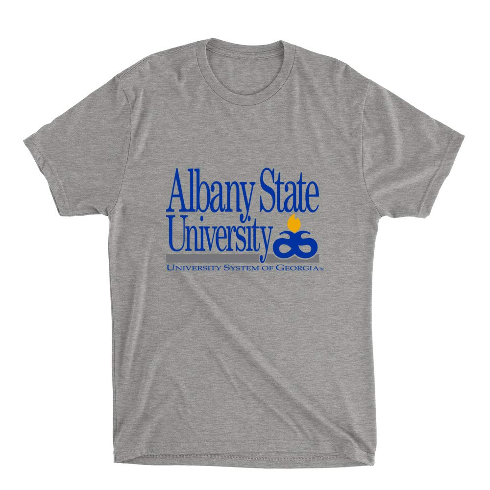 Official NCAA Albany State University Golden Rams PPAUN03 Mens//Womens Premium Triblend T-Shirt