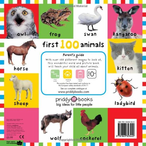 First 100 Animals First 100 Bright Baby First 100: Amazon co