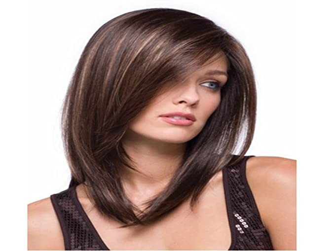 Amazon.com: HM Pelucas Long Straight Women Wigs Synthetic Hair Wig +Free hairnet: Clothing