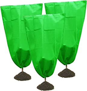 Zeudas Plant Covers Freeze Protection, Plant Frost Blanket, for Plants Trees Shrubs Jacket Cold Weather Covers (3PCS, 31.5