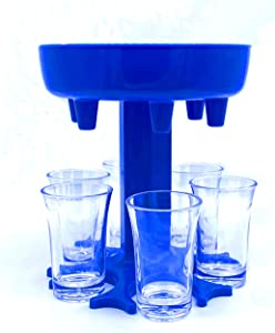 6 Piece Glass Dispenser and Holder Set,Used for Filling Liquid,with 6 Leaking Plugs,Freely Adjustable Water Dispenser Outlet, for Bar Home Cocktails,Family Party Small Wine Glass Dispenser.
