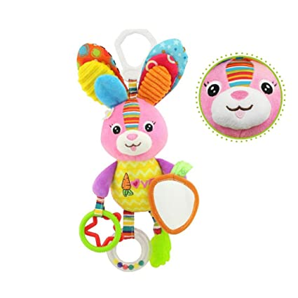 Baby Infant Rattles Plush Animal Stroller Music Hanging Bell Toy Doll Soft Bed