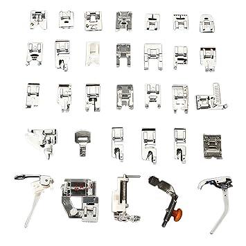amazingdeal365 32 piezas para máquina de coser pie pies fijación a presión para Brother Cantante Set: Amazon.es: Hogar
