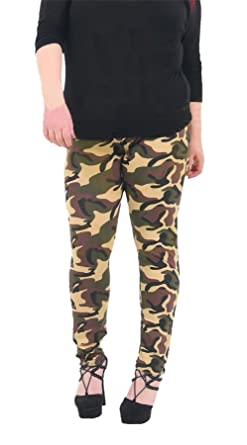 Coton Pantalon Femmes Camouflage Mesdames Legging Fashions Islander EqC00