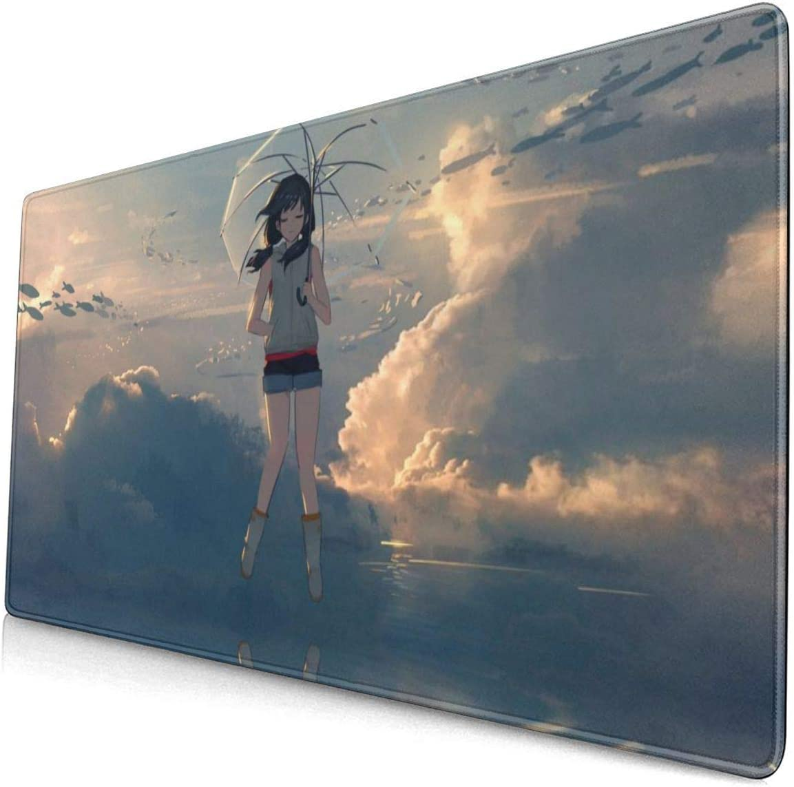 Amazon Com Makoto Shinkai Anime Movie Weathering With You Tenki No Ko 15 8x29 5 In Large Gaming Mouse Pad Desk Mat Long Non Slip Rubber Stitched Edges Office Products