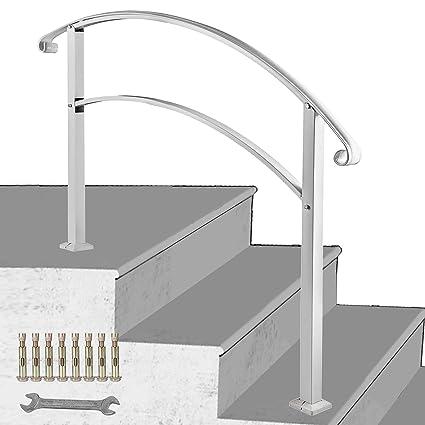 LOVSHARE 3FT Adjustable Wrought Iron Transition Handrail