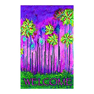 Windmill Painting Garden Flagsdecorative flags initial flags party flags 28 x 40 Inch Double Sided banner home flags Print flags