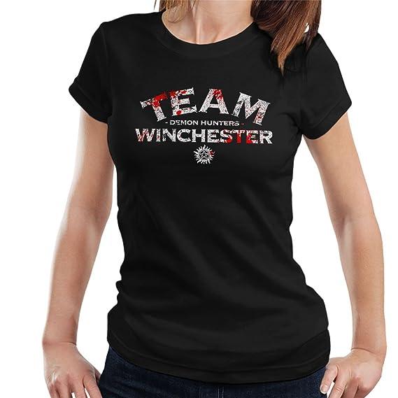 Supernatural Demon Hunters Team Winchester Women S T Shirt Amazon