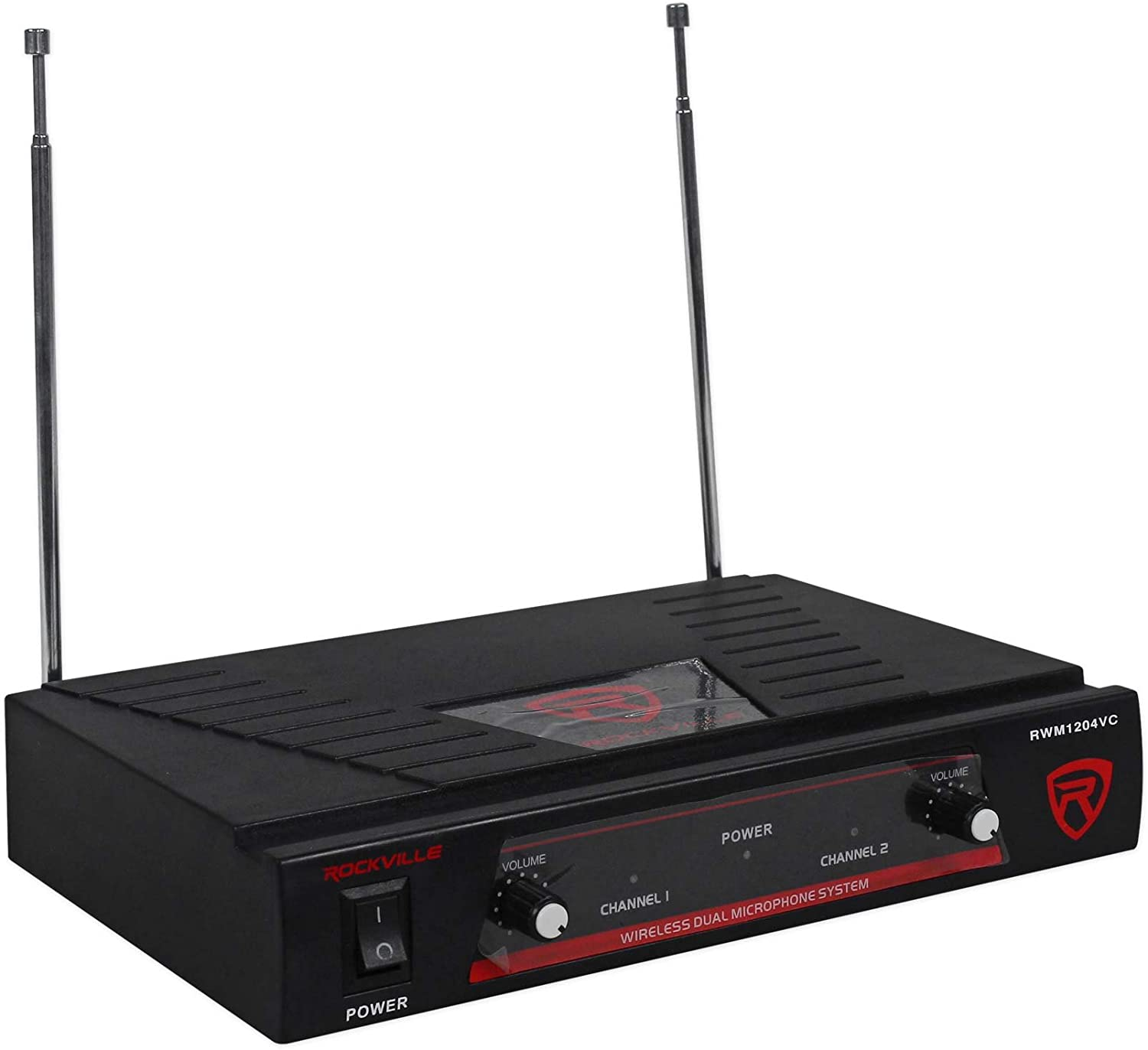 Rockville RWM1204VC Vhf Wireless Dual Lavaliere//Clip-On Microphone Mic System
