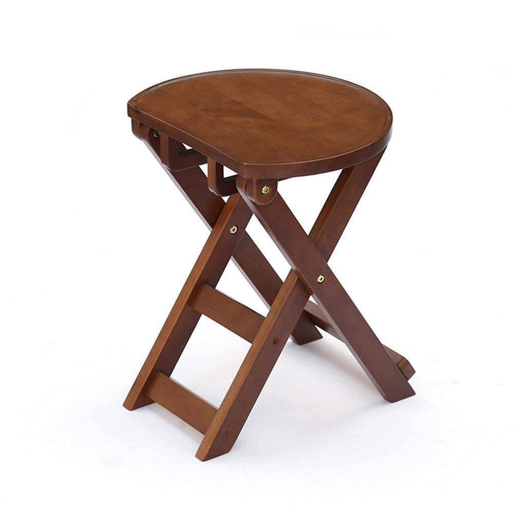 ZEMIN ダイニングチェア椅子の木の木製折り畳み 椅子 ソファー シート スツール ラダー 表 折畳み式 ポータブル 木製 無垢材 パッド入り クリエイティブ 多機能、 6色、 2サイズあり ( 色 : コーヒー , サイズ さいず : 36x24.5x43CM ) B078RLFKPKコーヒー 36x24.5x43CM