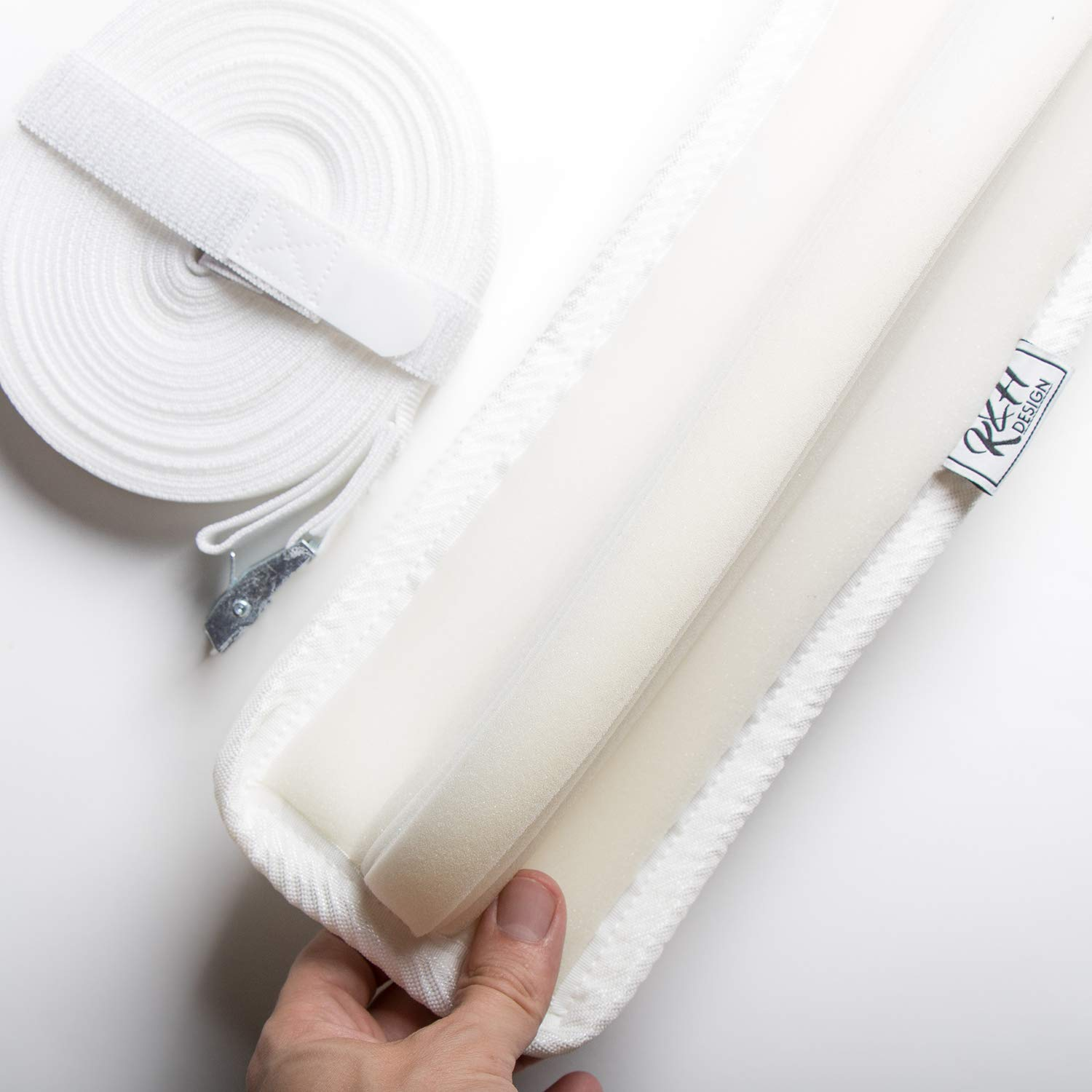 Twin to King Converter Kit with Bed Bridge Gap Filler and Bed Strap Connector Belt - Make Twin or Twin XL Beds Into King - Super Soft Hypoallergenic Foam with Premium Feel Cover
