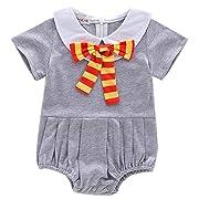 stylesilove Baby Girls Halloween Magic School Witch Costume Cotton Romper (Magic Romper, 60/3-6 Months)