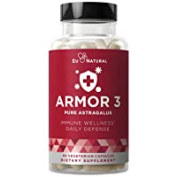 Armor 3 Astragalus Pure 1000 MG – Healthy Immunity Function, Stress Support, Potent...