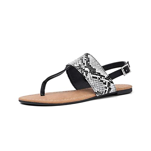f518c6decbb02 Girl21 Big Size 36-50 Women Sandals Snake Printing Flip Flops Summer ...