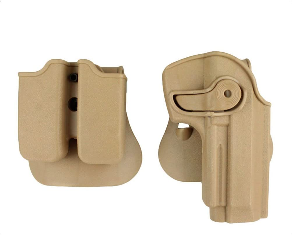 Tactical Retention Rotate Pistol Holster for Beretta 92 96 M9 w// Magazine Pouch