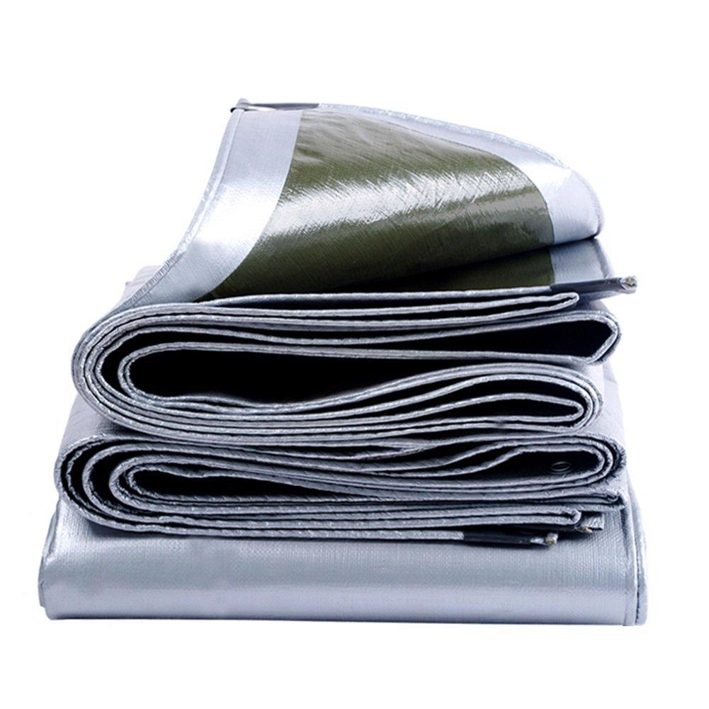 argent+ARMY vert 3X2M Tissu antipluie Prougeection solaire BÂche épaissie imperméable Auvent en plastique Remise PVC Toile de crêpe Toile Camping et Tente extérieure Doubleure Pêche Jardinage Animaux de compagnie