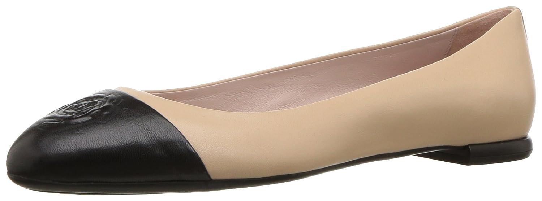 Taryn Rose Women's Rosa Ballet Flat B077TZDNVW 12 M Medium US|Beige/Black