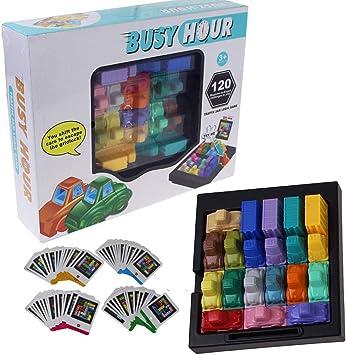 YOYOGO ❀Juguete De Baño para Bebé Fun Rush Hour Traffic Jam Juego De Lógica Toy For Boys Girls Busy Hour Puzzle Game: Amazon.es: Juguetes y juegos