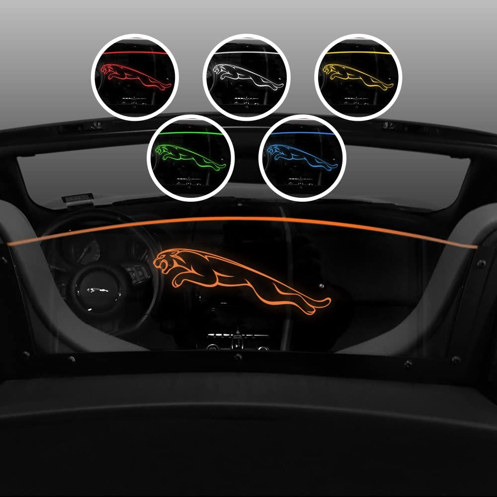Laser Etched Jaguar Logo Control Backdraft Air Flow /& Wind Noise Windrestrictor Wind Deflector for Jaguar F-Type Convertible Amber LED Illumination 2013-2018 Wind Block for Convertible