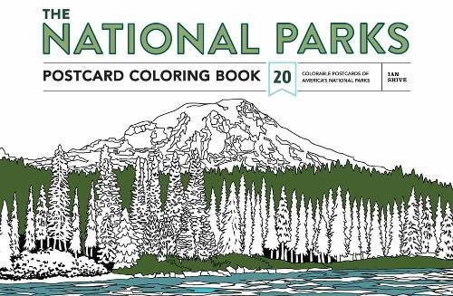 The National Parks Postcard Coloring Book: 20 Colorable Postcards of America's National Parks
