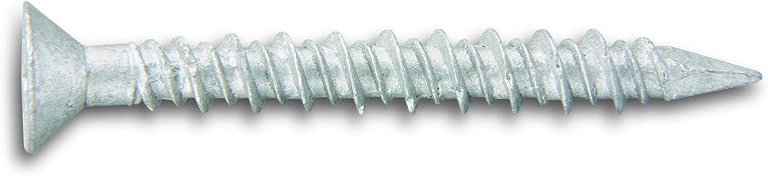 100 Per Box Powers Fastening Innovations 02888 1//4-Inch by 1-3//4-Inch Tapper Phillips Flat Head Type 304 Stainless Steel Screw Anchor