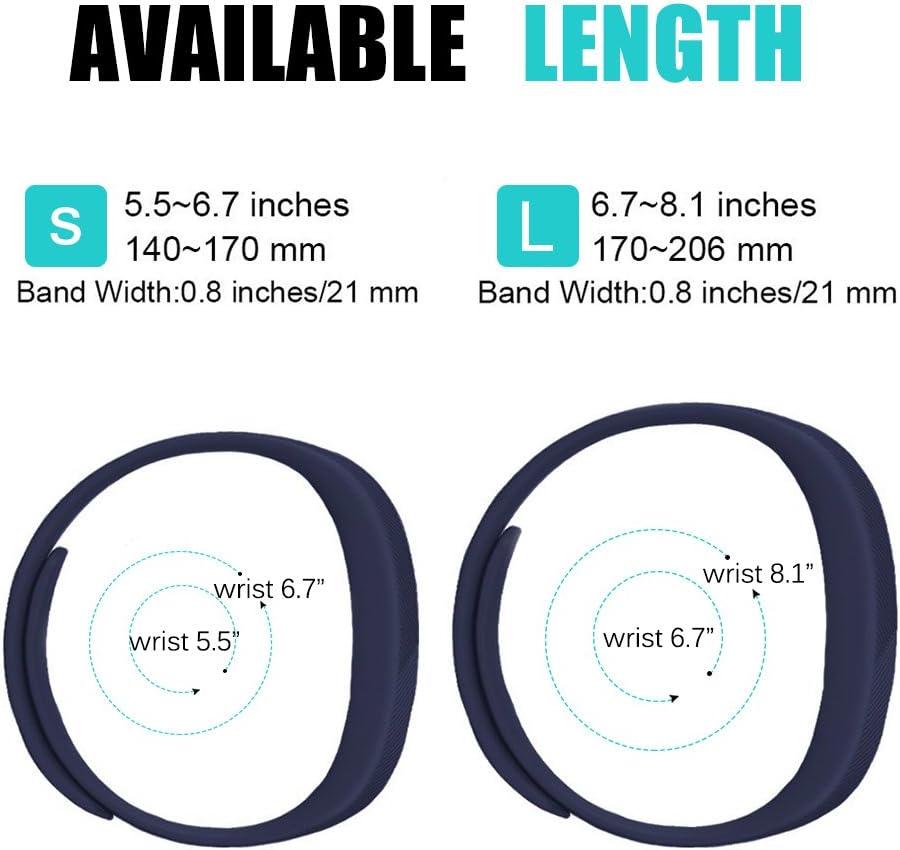 Fit-power plusieurs tailles disponibles Lot de 2 bracelets de rechange pour Fitbit Flex 2