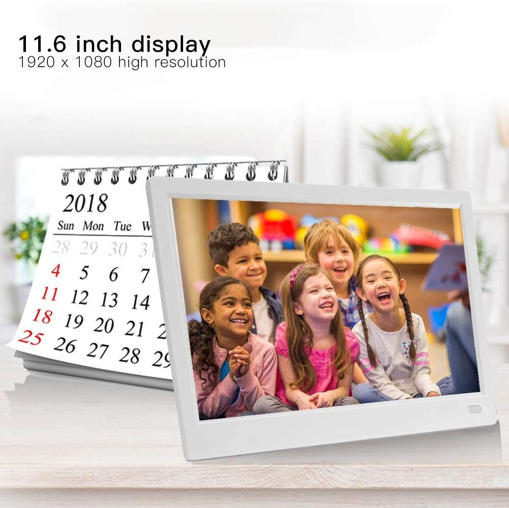 MP3//Calendar//Clock Neufday 11 inch Digital Photo Frame HD LED Picture Videos Frame with Motion Sensor US-Black