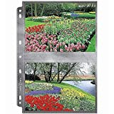 Lineco Polypropylene Photo Album Pages, 8.75 X 11.125 inches, Holds 5 X 7 inch Photos, Pack of 25 (AW24913-25)
