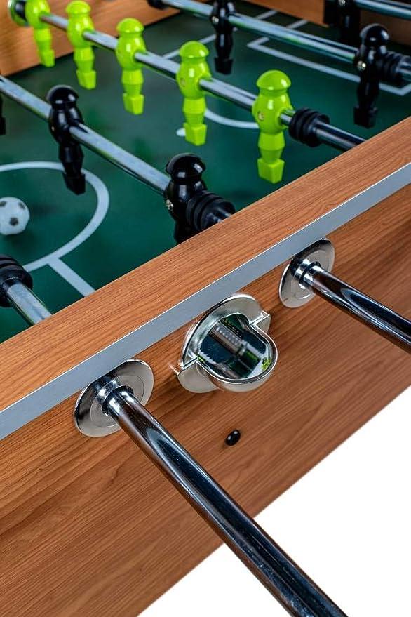 Devessport - Futbolín Titanium Ideal para Jugar con Amigos - Gran tamaño - Patas con Mayor Estabilidad - Barras de Metal - Mango de plástico - Retorno de Bolas - Medidas: 142