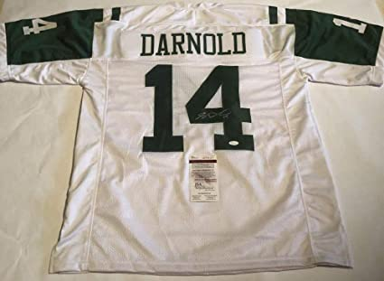2b03c4ae5d4 Sam Darnold Autographed Signed Jets Jersey - JSA Certified at ...