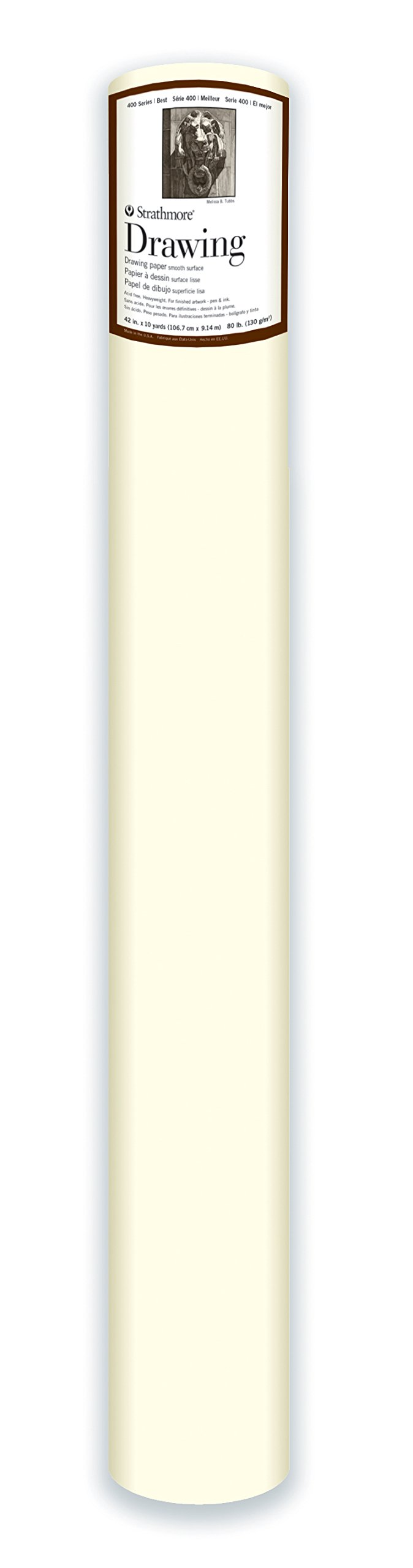 Strathmore ((401-43 400 Series Drawing Roll, 100 lb. Medium Surface, 42'' x10 Yards by Strathmore
