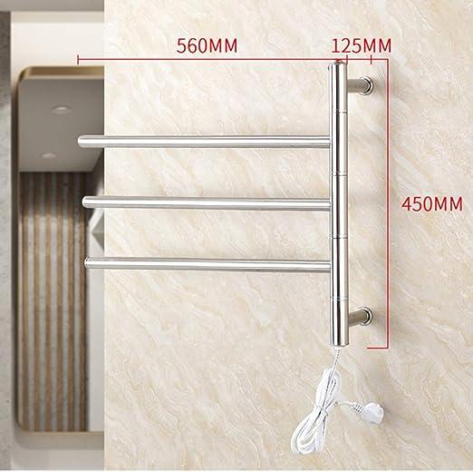 NINI Cuarto de baño toallero de Acero Inoxidable calefacción eléctrica Toalla Rack Cuarto de baño Colgando Toalla Estante Inodoro Estante 480 * 560 * 120mm: Amazon.es: Hogar
