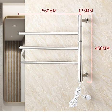 NINI Cuarto de baño toallero de Acero Inoxidable calefacción eléctrica Toalla Rack Cuarto de baño Colgando