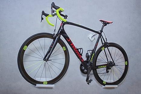 trelixx Soporte de Pared para Bicicleta acrílico Blanco (Acabado ...