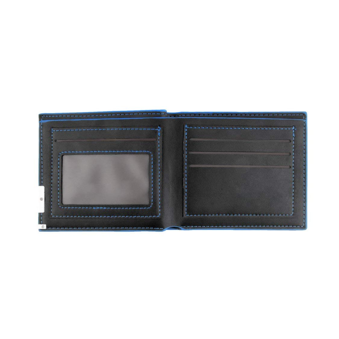 Fashionable Design Male Men Cool Leather Wallet Black Card Clutch Purse Bifold Money Clip Short Type Money Wallet