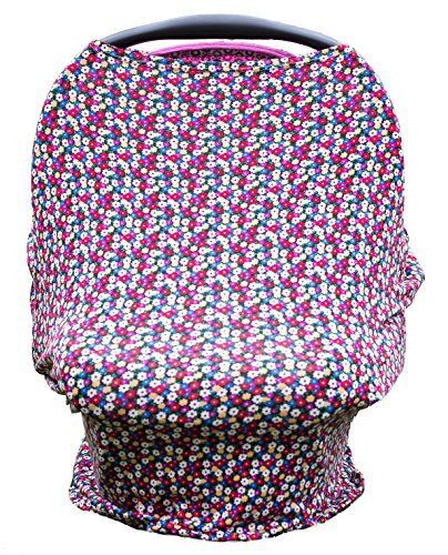 Carseat Cover Straps Covers, Carseat cover for Baby, Nursing Cover Canopies_Daisy Flower