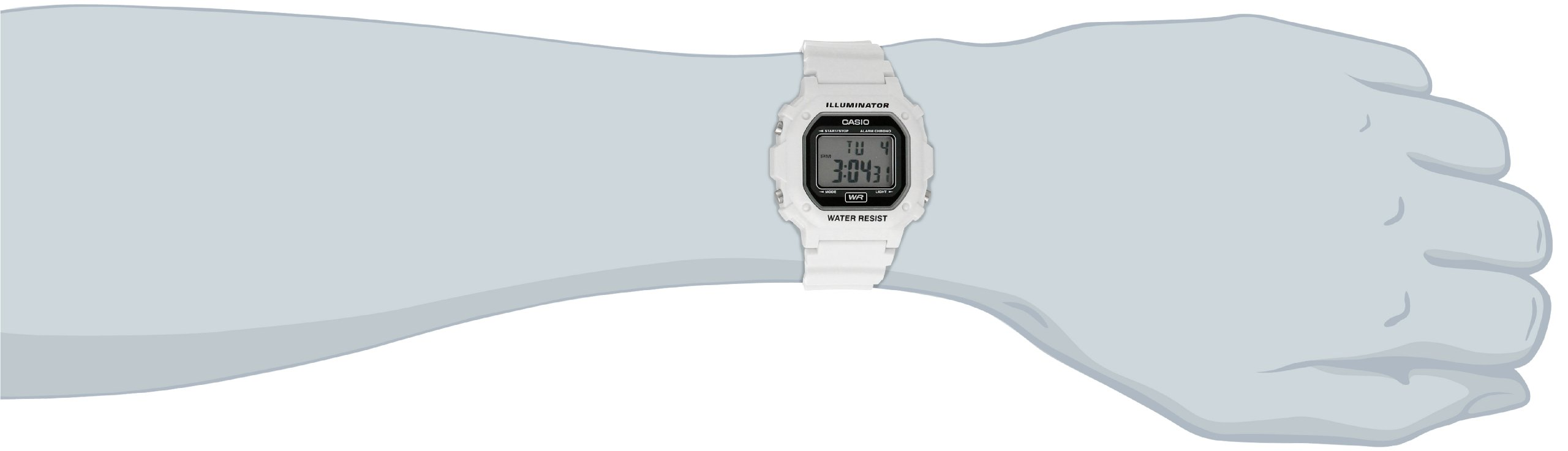 Casio Unisex F-108WHC-7ACF Classic White Resin Band Watch by Casio (Image #2)