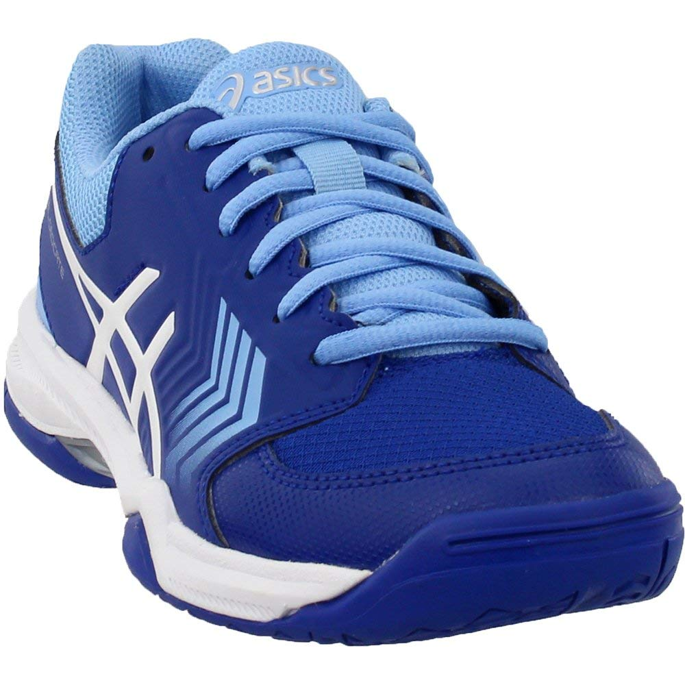 ASICS Gel-Dedicate 5 Women's Tennis Shoe, Monaco Blue/White, 5 M US