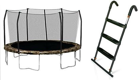 Skywalker trampolín 15 pies trampolines redondos con almacenaje Color Camuflaje y Primavera Pad y JumpSport 3 paso escalera para cama elástica Compo paquete de oferta: Amazon.es: Deportes y aire libre