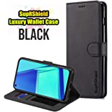 for Oppo A52 Wallet Leather Card Holder Flip PU Magnetic Protective Heavy Duty Shockproof Case Cover (Black)
