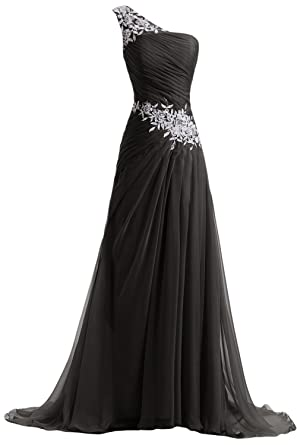 Amazon.com: Sunvary Designer Chiffon and Applique Bridesmaid Dress ...