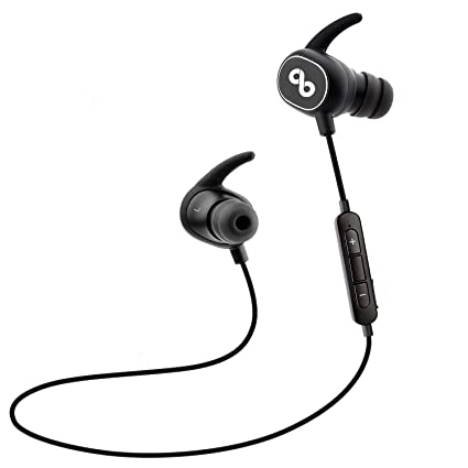 CrossBeats PULSE IPX5 Bluetooth In-Ear Sports CVC 6 0 Noise Cancelling  Headphones with Built-In Mic, 8 Hours Playtime, 272E, Case
