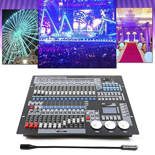1024 Stage Lighting Console, Laser Operator Controller Console Wireless Stage Light Channels for Party Lighting Moving Head Board Transmitter Control DJ LED Show Bar from LOYALHEARTDY19