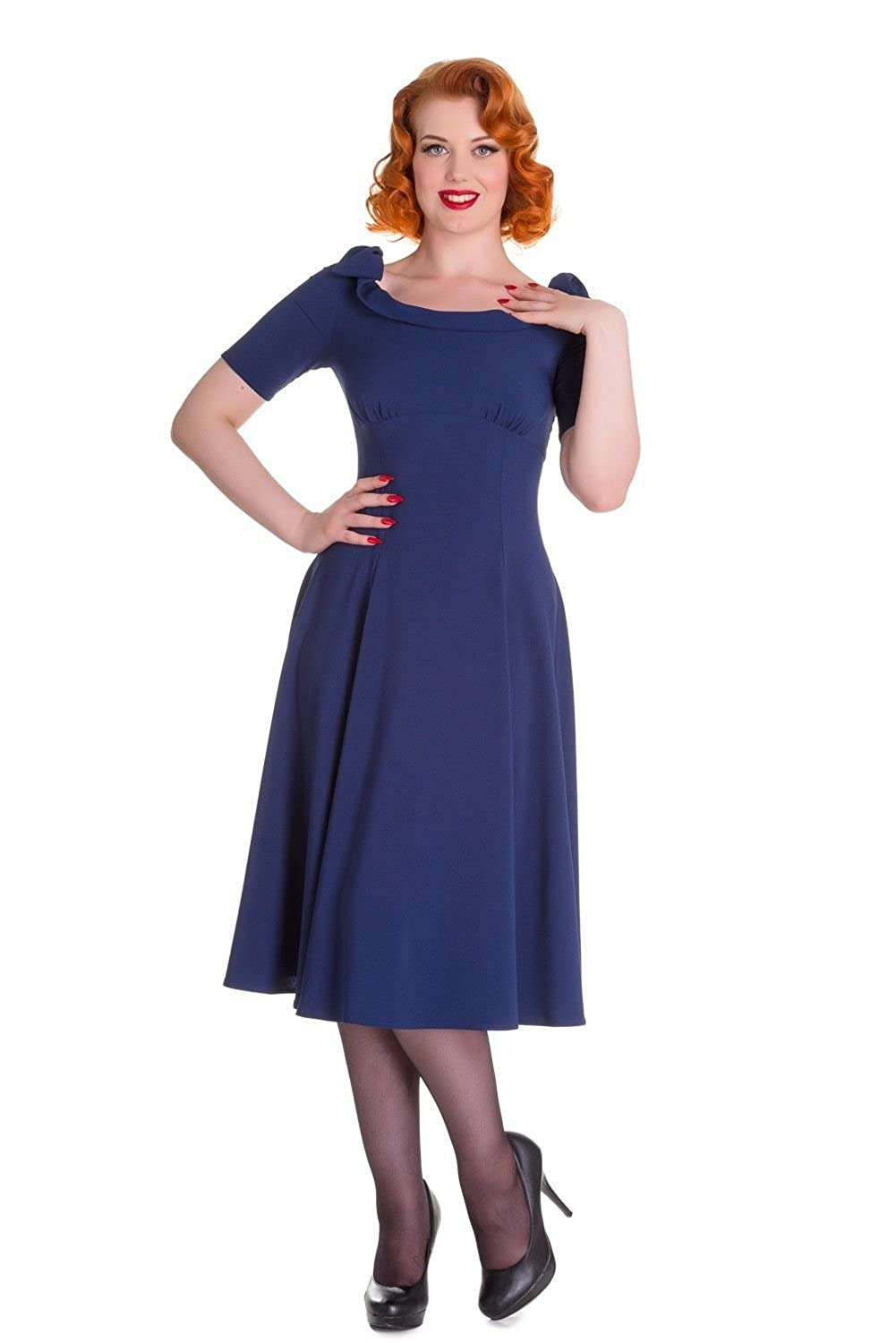 Plus Size Vintage Dresses, Plus Size Retro Dresses Hell Bunny Bianca Vintage Style 50s Dress $34.99 AT vintagedancer.com