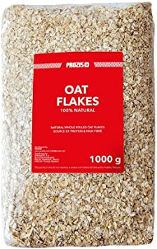 Prozis 100% Natural Whole Oat Flakes 1kg - Cereales Repletos de Proteína, Hidratos de Carbono de Primera Calidad y Fibra Saciante - Apto para ...