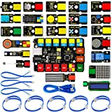 KEYESTUDIO Easy Plug Super Starter Kit for Arduino/Mixly, Perfect Electronic and Programming Learning kit for Primary, high School and College Students, STEM EDU