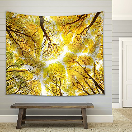 Autumn trees pattern Fabric Wall Tapestry