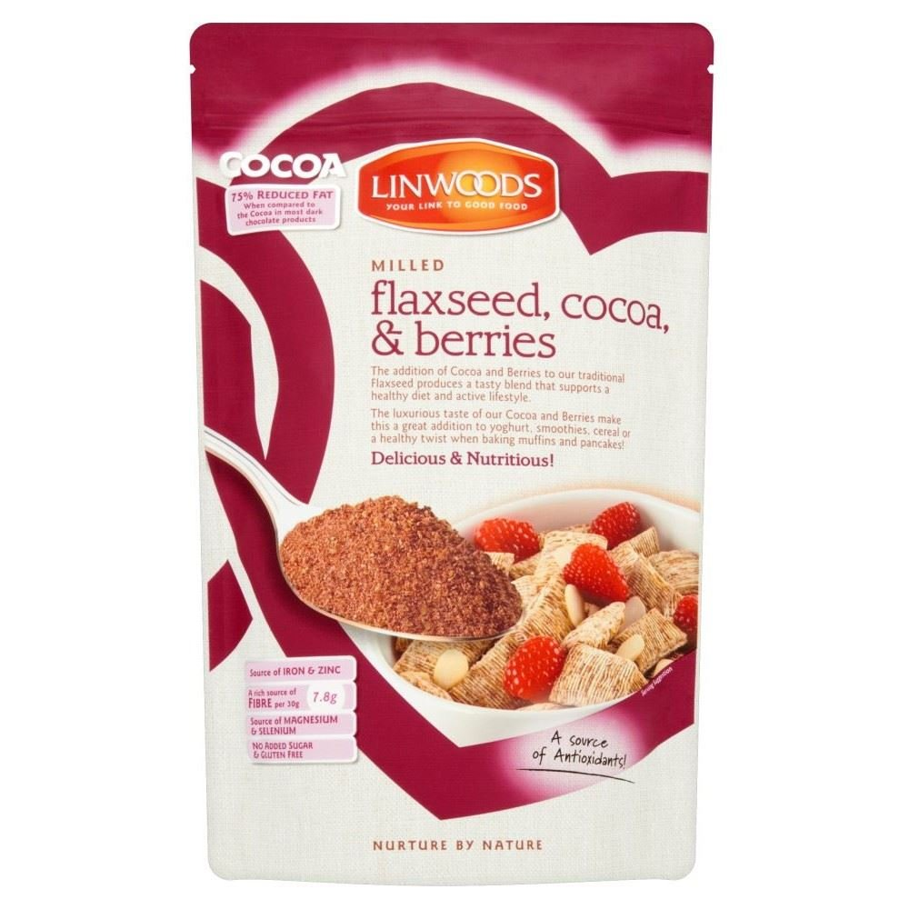 Linwoods Milled Flaxseed, Cocoa & Berries (360g) - Pack of 6